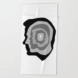 Star Trek Head Silhouettes Beach Towel