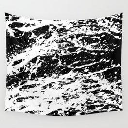 Black and White Paint Splatter Wall Tapestry