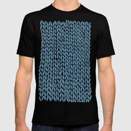 Hand Knit Niagra Blue T-shirt