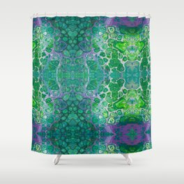 Green marble painting Shower Curtain