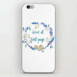 Love at first page iPhone Skin