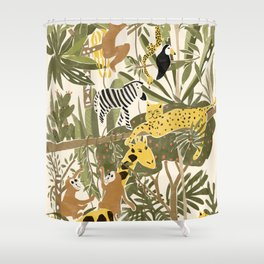Th Jungle Life Shower Curtain