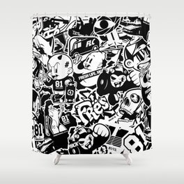 FLC TV Shower Curtain