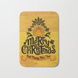 -A25- Arteresting Merry Christmas Artwork Carpet Texture. Bath Mat