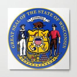 Wisconsin seal Metal Print