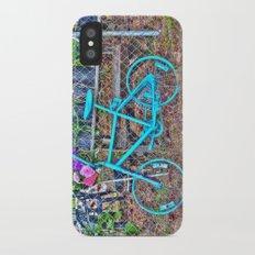 Turquoise Bicycle iPhone X Slim Case