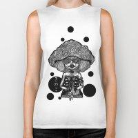 mushroom Biker Tanks featuring Mushroom by AKIKO