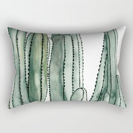 Desert Cactus Cluster Rectangular Pillow