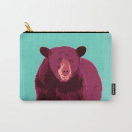 Bear poster, Brown bear, Happy bear wall art, GRIZZLY BEAR, animal bear, pop art poster Carry-All Pouch