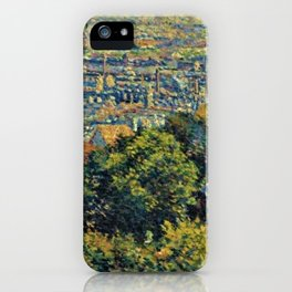 Hill of Montmartre overlooking Paris by Maximilian Luce iPhone Case