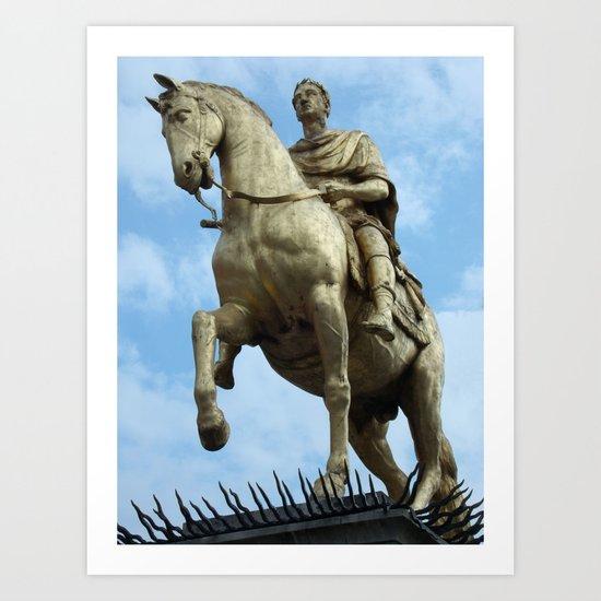 King William Statue, Hull Art Print