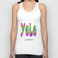 yolo Tank Tops featuring YoLo by  Alexia Miles photography