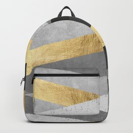 Gold and gray lines IV Backpack
