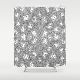 Fossil Mat Shower Curtain