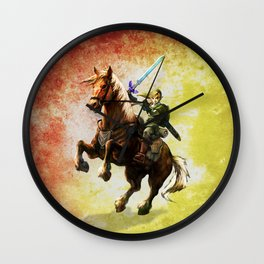 Legend Of Zelda Link Adventure Wall Clock