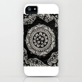 Flower Spike Mandala iPhone Case