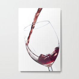 Elegant Red Wine Photo Metal Print
