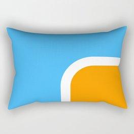 Orange loves Blue Rectangular Pillow