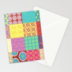 BOHO Art - Collage - Colorful - Ethnic - Patterns Stationery Cards
