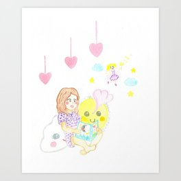 Imagination - Girl Art Print