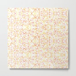Abstract Gold Rings - Pattern Metal Print