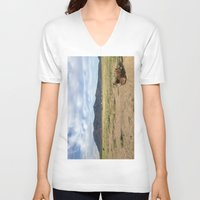 cuddle V-neck T-shirts featuring Colorado Cuddle by Uptilted Sparrow Photography