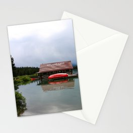Maligne Lake Boathouse Stationery Cards