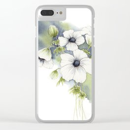 Splashy Floral Watercolor Clear iPhone Case