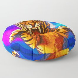 A Formidable Foe (Eyes of the Tiger) Floor Pillow