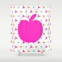 apple Shower Curtains featuring *Apple* by Mr and Mrs Quirynen