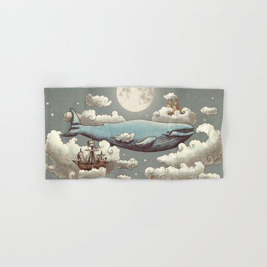Ocean Meets Sky (original) Hand & Bath Towel