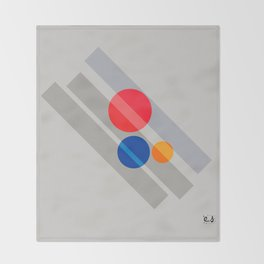 Abstract Suprematism Equilibrium Art Red Blue Yellow Throw Blanket