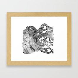 Textured knot illustration Framed Art Print