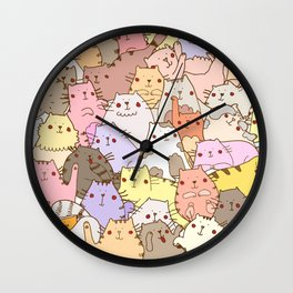Cats own the internet Wall Clock