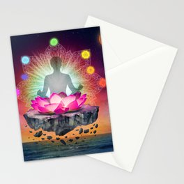 yoga time Stationery Cards