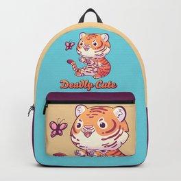 Deadly Cute Tiger // Kawaii, Big Cat, Animals Backpack