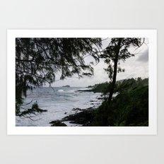 Maui through the Trees Art Print