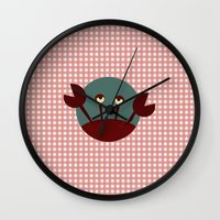 crab Wall Clocks featuring Crab by Mr and Mrs Quirynen