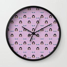 Liz Pattern Wall Clock