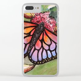 Sunrise Butterfly Clear iPhone Case