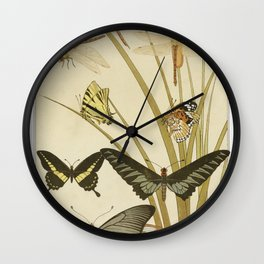 Papillons from Lanimal dans la decoration (1897) illustrated by Maurice Pillard Verneuil Wall Clock