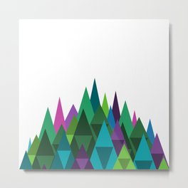 Jewel Toned Mountain Range Metal Print