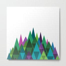 Jewel Toned Mountain Range Metal Print
