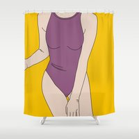 swim Shower Curtains featuring SWIM 2 by G-VNCT