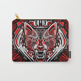 Wolf Tattoo Style Haida Art Carry-All Pouch