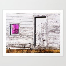 Siler City Barn with Zinnia  Art Print