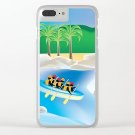 Dominican Republic - Skyline Illustration by Loose Petals Clear iPhone Case