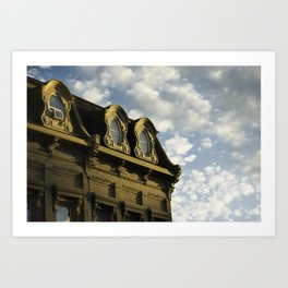 Ornate architecture of Millbrook downtown buildings Art Print