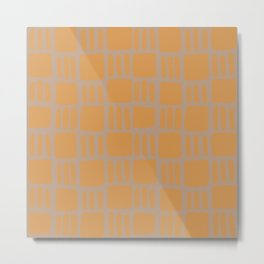 Abstract squares - ochre and beige Metal Print
