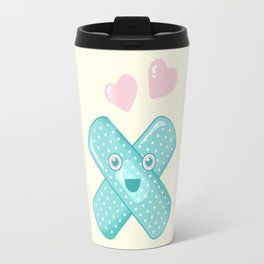 Pastel Happy Plaster Travel Mug